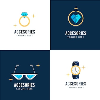 Plat modeaccessoires logopakket