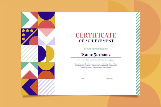Plat modern certificaatsjabloon