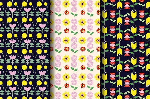 Plat mooie lente patroon set