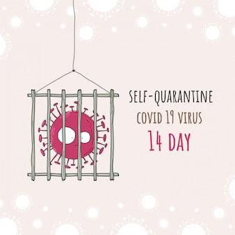 Plat naadloos patroon corona virus covid 19