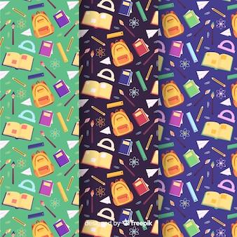 Plat naar school patroonverzameling