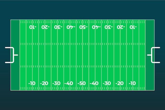 Plat ontwerp amerikaans voetbalveld