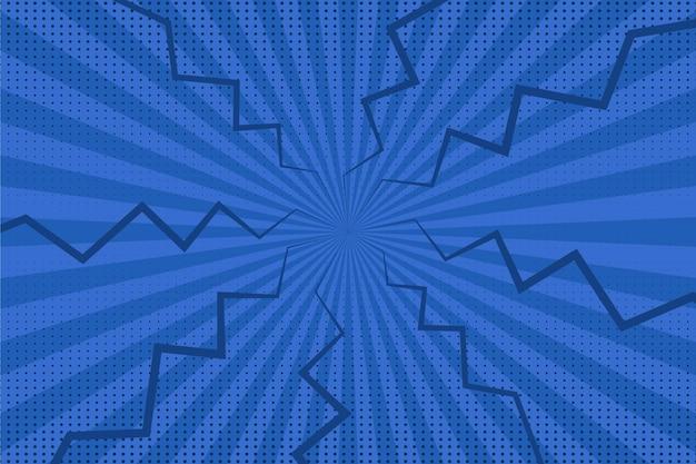 Plat ontwerp blauw strips behang