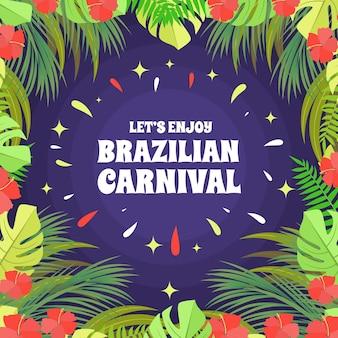 Plat ontwerp braziliaans carnaval