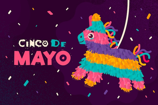 Plat ontwerp cinco de mayo festival