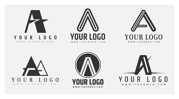 Plat ontwerp een logo-collectie