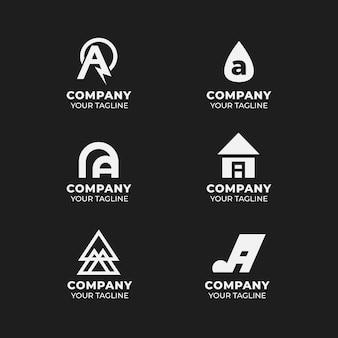 Plat ontwerp een verzameling logo-sjablonen