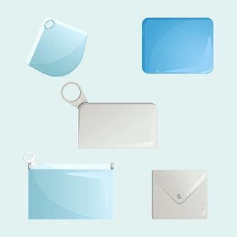 Plat ontwerp gezichtsmasker opbergdoosjes pack