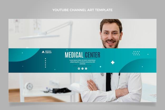 Plat ontwerp medisch centrum youtube-kanaal