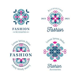 Plat ontwerp modeaccessoires logo pack
