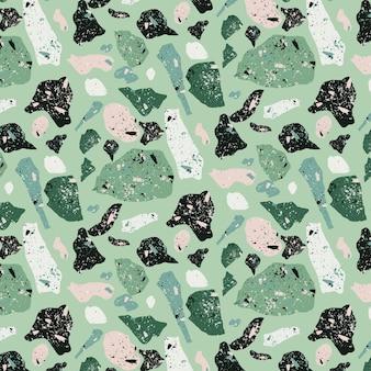 Plat ontwerp monochromatisch terrazzo patroon