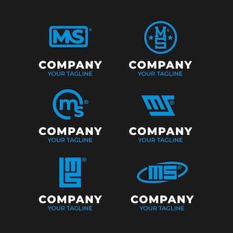 Plat ontwerp ms logo pack