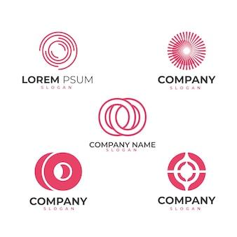 Plat ontwerp o logo sjablonen pack