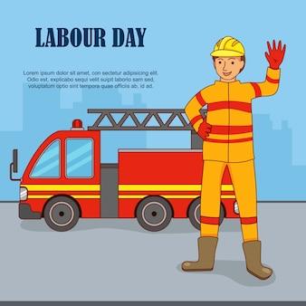 Plat ontwerp om de internationale dag van de arbeid te vieren.
