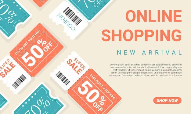 Plat ontwerp online winkelen en verkopen