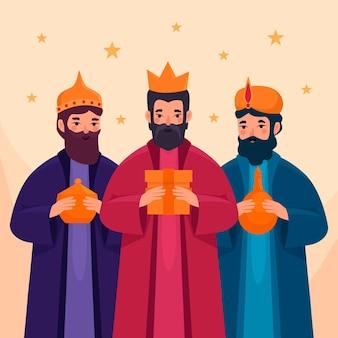 Plat ontwerp reyes magos