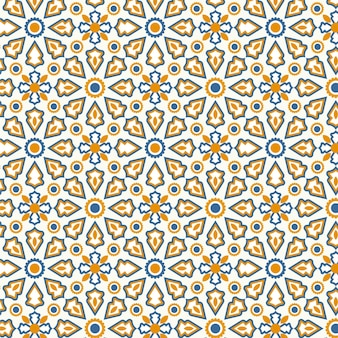 Plat ontwerp sier arabisch patroon