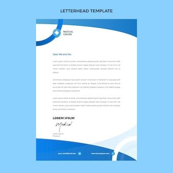 Plat ontwerp van medisch briefpapier