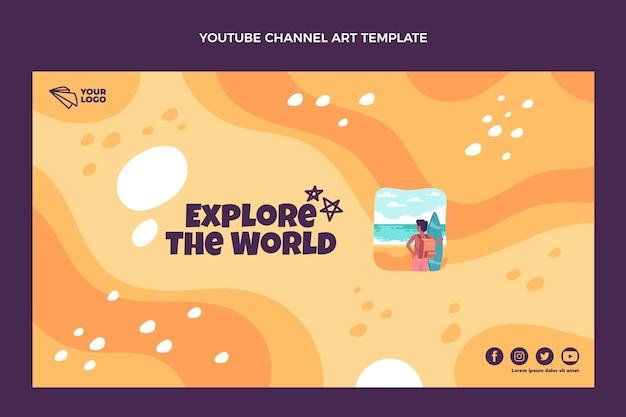 Plat ontwerp verken het youtube-kanaal van de wereld