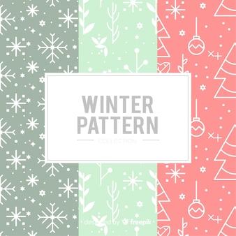 Plat patroon winterpatroon