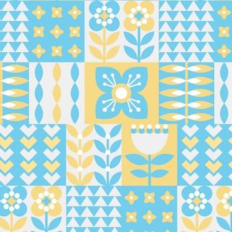 Plat scandinavisch patroon