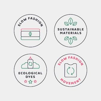 Plat slow fashion-badgepakket