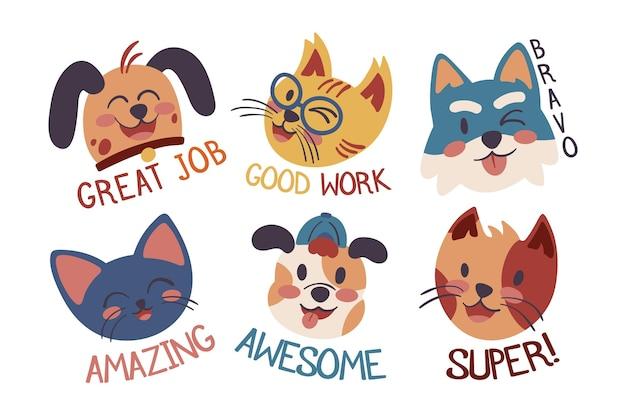 Plat stickerspakket voor geweldige banen