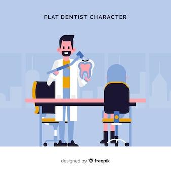 Plat tandheelkundig karakter