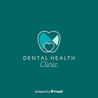 Plat tandheelkundig kliniek-logo