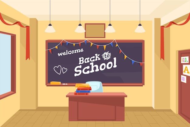 Plat terug naar school achtergrond