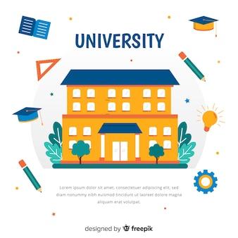 Plat universitair concept met onderwijselementen