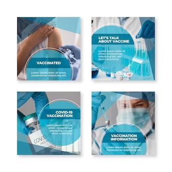 Plat vaccin instagram postpakket met foto's