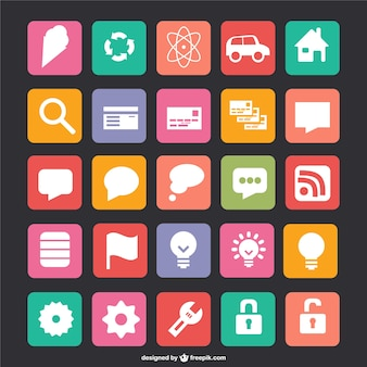 Plat vector iconen