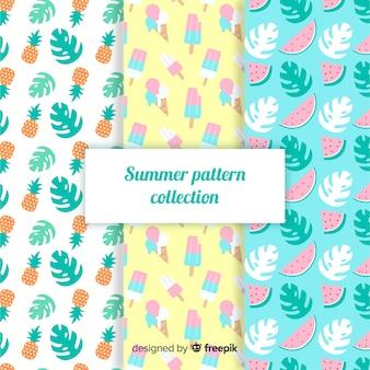 Plat zomerpatroonpak