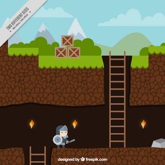Platform spel met een karakter