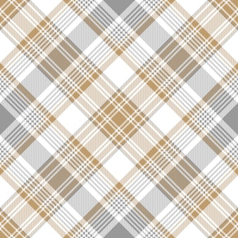 Platina gouden tartan diagonaal naadloos patroon