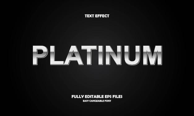 Platina teksteffect Premium Vector