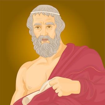 Plato-filosoof uit het oude griekenland