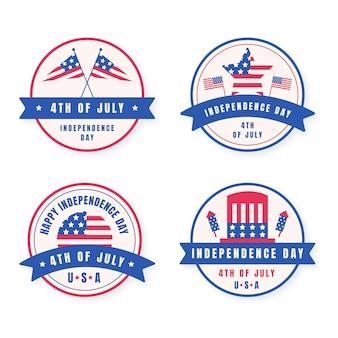 Platte 4 juli - labelverzameling onafhankelijkheidsdag