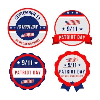 Platte 9.11 patriot dag badges collectie