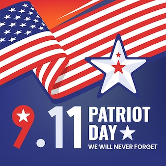 Platte 9.11 patriot dag illustratie