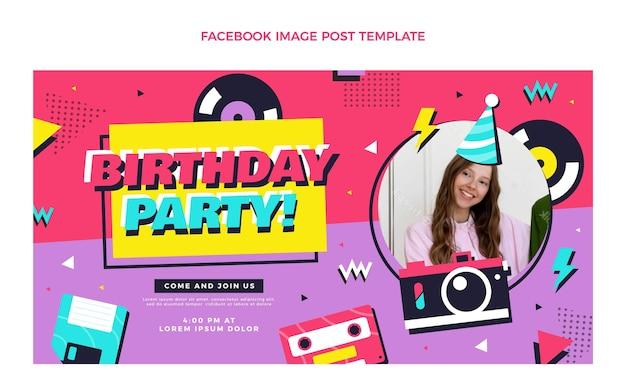 Platte 90s nostalgische verjaardag facebook post