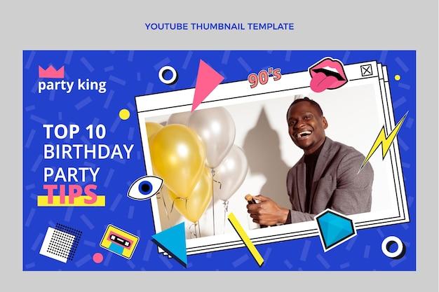 Platte 90s nostalgische verjaardag youtube thumbnail