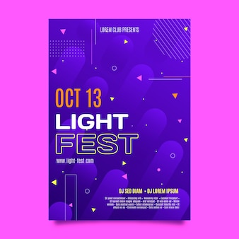 Platte a5 flyer-sjabloon licht fest