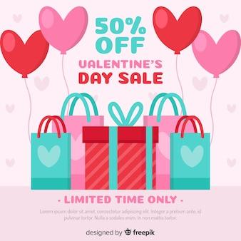 Platte aankoop valentijn verkoop achtergrond