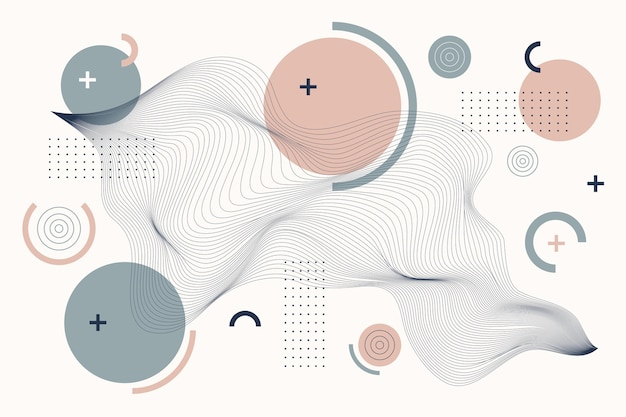 Platte abstracte draadframe achtergrond