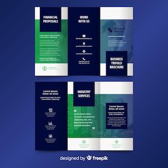 Platte abstracte driebladige brochure