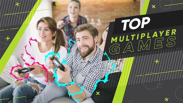 Platte abstracte gamer youtube thumbnail