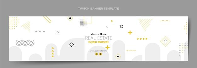 Platte abstracte geometrische onroerend goed twitch banner