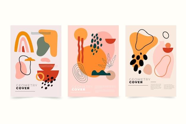 Platte abstracte kunst omvat collectie